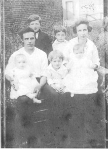 Floyd and WCW jr (in back); WCW sr and Louetta; Leona, Charles, and Leo Wilkinson. North Judson, Ind. 1920.